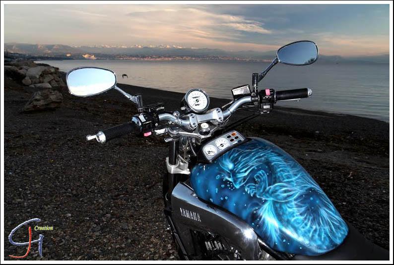 dragon aquatique reservoir moto peinture. Black Bedroom Furniture Sets. Home Design Ideas