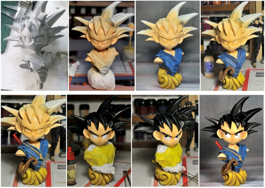Peinture Buste Goku
