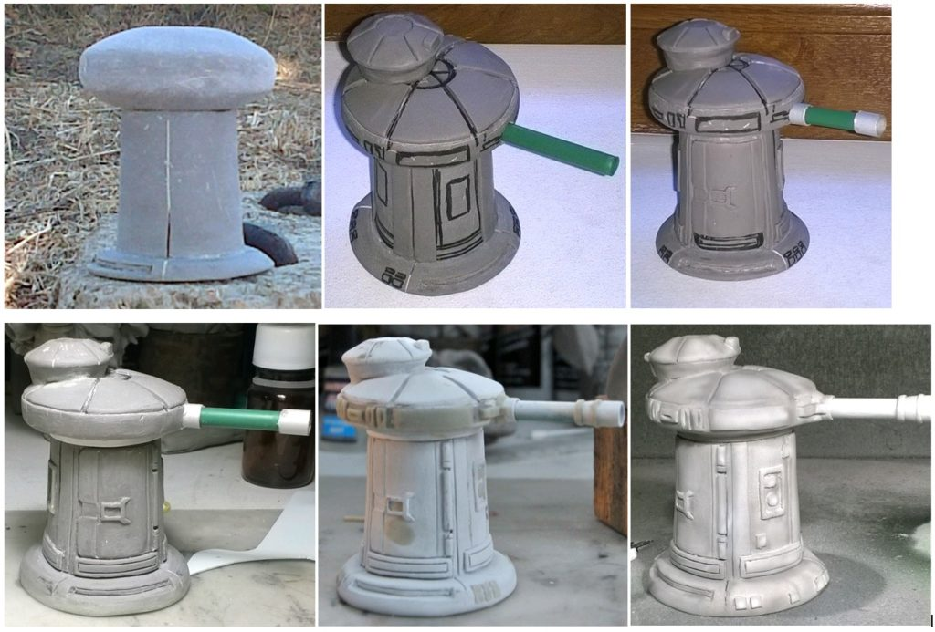 Sculpture canon infanterie SW